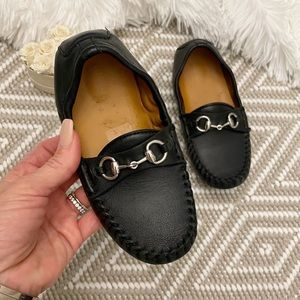 Gucci Horsebit Leather Toddler Loafers Moccasin